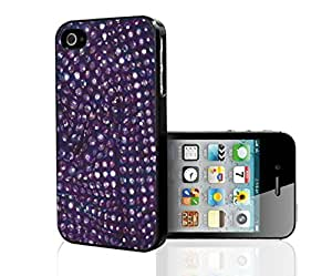 Purple Sequin Background Hard Snap on Phone Case (iPhone 5/5s)