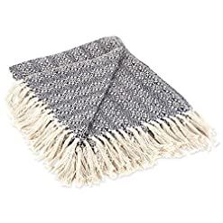 Bedroom DII Rustic Farmhouse Cotton Diamond Patterned Blanket Throw with Fringe For Chair, Couch, Picnic, Camping, Beach… farmhouse blankets and throws