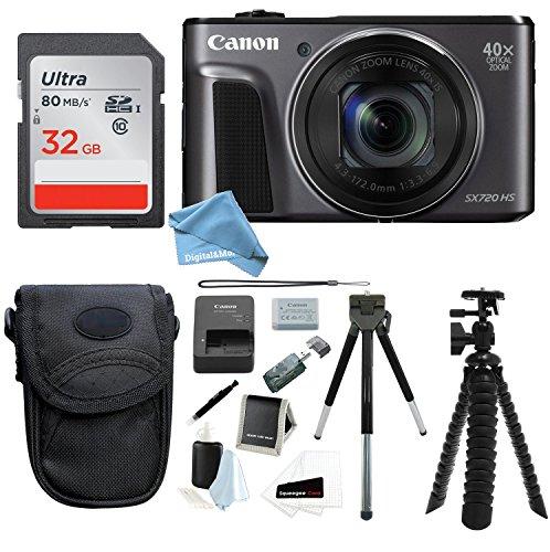 Canon PowerShot SX720 HS Digital Camera w/ 32GB SD Card & Di