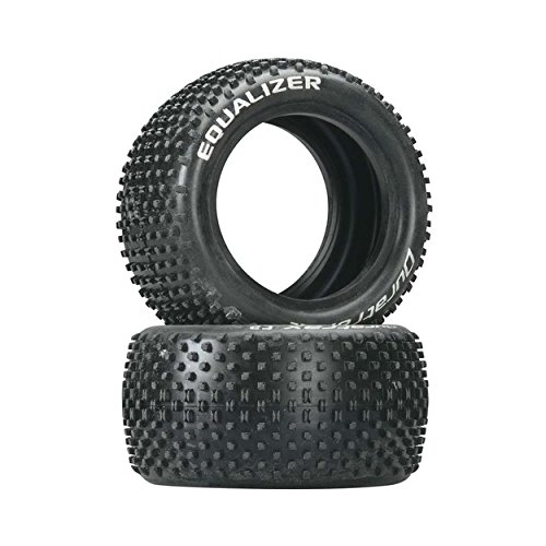 (Duratrax Equalizer 1:10 Scale RC Buggy Rear Tires with Foam Inserts, C2 Soft Compound, Unmounted (Set of 2))
