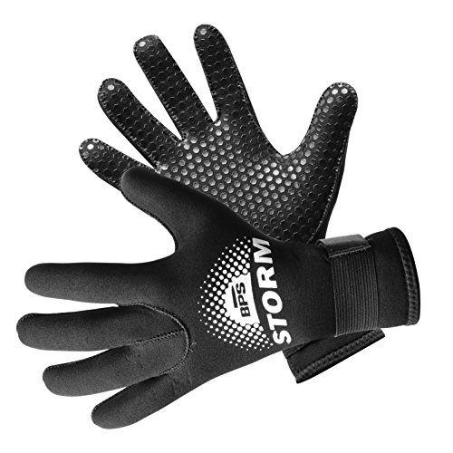 BPS 3mm & 5mm Double-Lined Neoprene Wetsuit Gloves - for Diving, Snorkeling,...