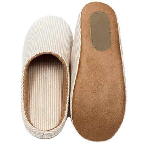 Noir Vendredi Vente Unisexe Confort Décontracté Pantoufle Anti-dérapant Coton Linge Pantoufles Pour Hommes Et Femmes À Lintérieur Des Chaussures Beige Petit (nous Taille 5.5-6.5)