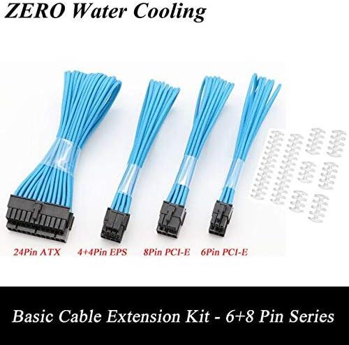 Cable Length: Clear Cable Comb, Color: Light Blue Occus 30colors Basic Extension Cable Kit; 1pcs ATX 24Pin//EPS 4+4Pin//PCI-E 8Pin//PCI-E 6Pin Power Extension Cable