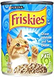 Cheap Purina Friskies Pate Ocean Whitefish & Tuna Dinner Wet Cat Food – (12) 13 oz. Cans