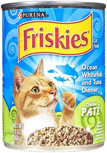 Purina Friskies Pate Wet Cat Food; Ocean Whitefish & Tuna Dinner - 13 oz. Can