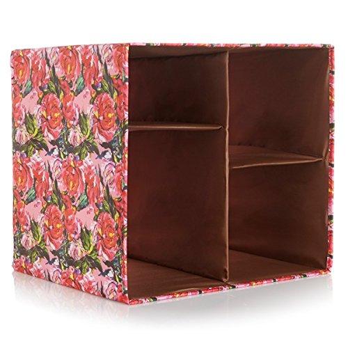 Joy Mangano Collapsible Chic Organize It All Storage Cube (Enchanted Peony)