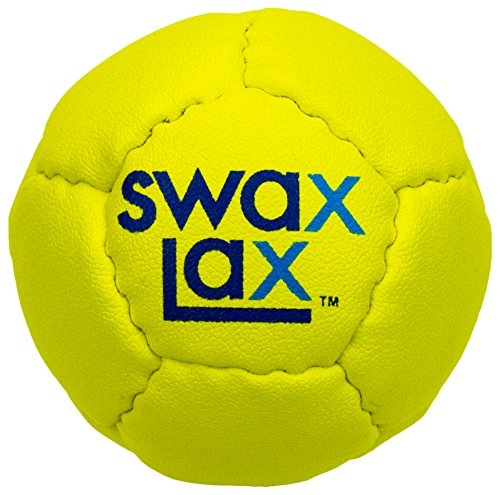 Swax Lax Lacrosse Training Ball - Same Size and Weight as Regulation Lacrosse Ball but Soft - No Rebounds, Less Bounce (Yellow)