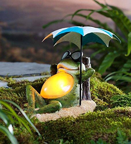 - Solar Sunbathing Frog Garden Accent