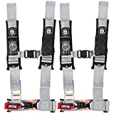 Pro Armor A114230SV Silver 4-Point Harness 3'' Straps, 2 Pack