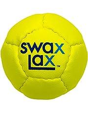SWAX LAX Lacrosse - Pelota de entrenamiento – mismo tamaño y peso que la regulación de la bola de lacrosse pero suave – sin rebote, menos rebote – Pelota de práctica interior al aire libre