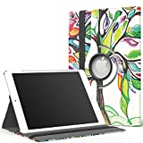 MoKo Case for iPad Air 2 - 360 Degree Rotating Cover Case for Apple iPad Air 2 (iPad 6) 9.7 Inch iOS 8 Tablet, Lucky TREE (with Auto Wake / Sleep, Not Fit iPad Air 2013 Released Tablet)
