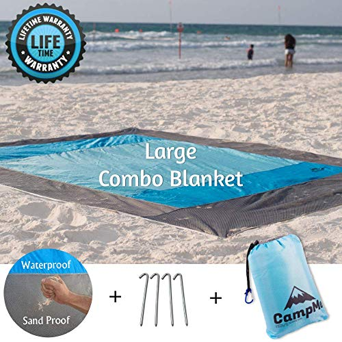 Best Prices! CampMe Large Beach Blanket Sand Proof and Waterproof Combined - Outdoor Beach Mat/Sand ...