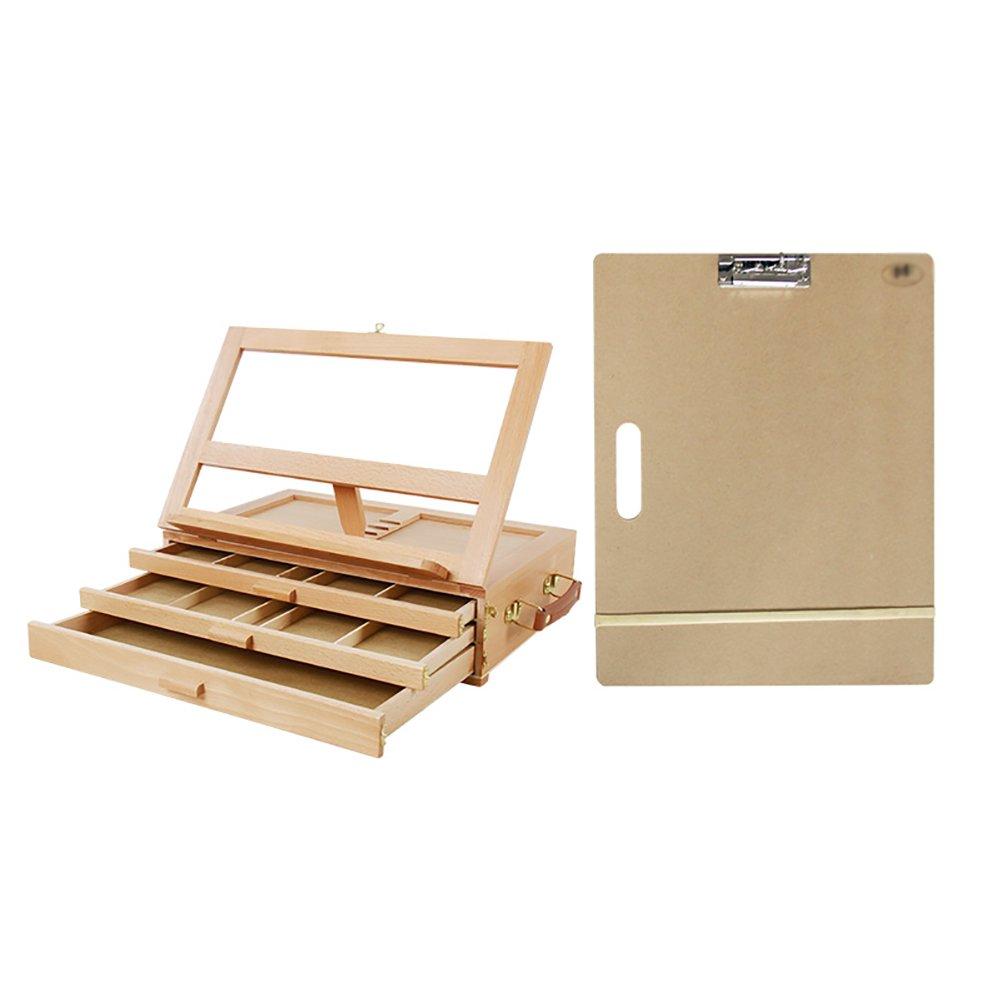 3つの床イーゼルA3スケッチボード木製のデスクトップ引き出しタイプの絵コンテポータブル広告結婚式テーブルスタンド B07FLQJ4FK B07FLQJ4FK, かばんのマルゼン:2943c14c --- ijpba.info