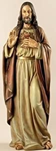 Renaissance Collection Joseph's Studio by Roman Exclusive Sacred Heart of Jesus Statue, 37.5-Inch