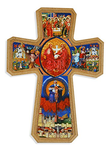 Holy Trinity Wall Cross with Wall Hook - Made in ()