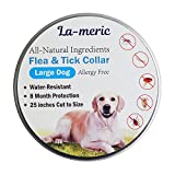 Dog Flea Treatment Collar - La-Meric Flea and Tick Prevention Collar for Large Dog,Flea Tick Control and Treatment,8 Month Protection,Odorless,Allergy Free and Water-Resistant.