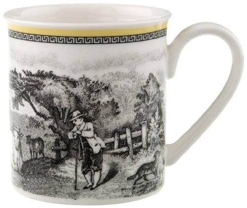 Audun Ferme Coffee Mug by Villeroy & Boch - Premium Porcelain - Made in Germany - Dishwasher and Microwave Safe - 10 Ounce (Ferme Mug)