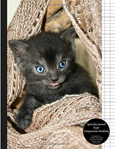 Specialty Journal Paper Composition Notebook Knitting Paper 2:3 20 Stitch / 30 Row Grid Pages Design Your Own Knitting Charts for Patterns Cute Kitty Cover: Blank Graphs Books for Knit Designs