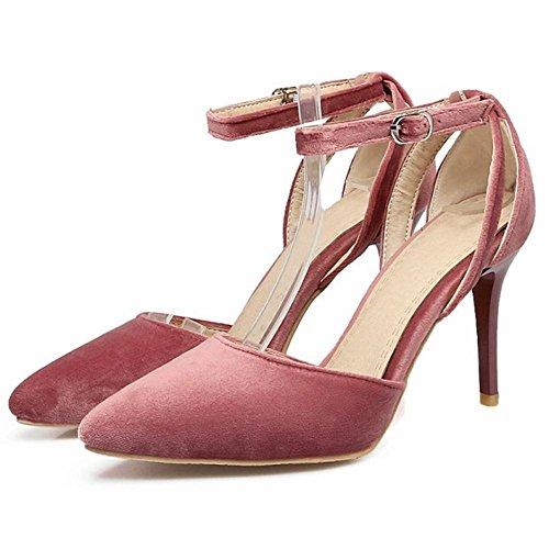 Sandales Cheville Femmes D'Orsay Bride Talons TAOFFEN Pink qX0Ew1w4
