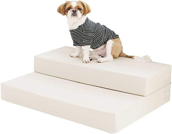 ChengLaoBan Shop Paso Perro, Escalera Mascota Escalera Amortiguador del Animal doméstico Escalada Plegable for Proteger lesión de la articulación del Animal doméstico, 90x75x10-20cm Escalera Mascota: Amazon.es: Hogar