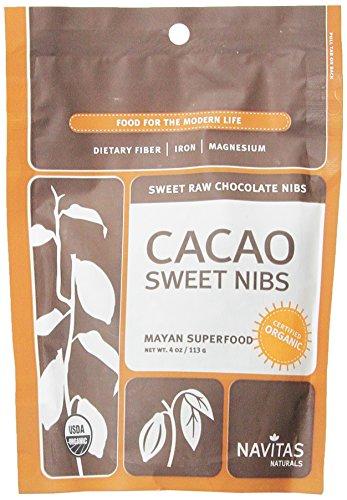 Navitas Naturals organiques Cacao Nibs premières sucrées, sachets de 4 onces