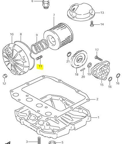 Suzuki OEM Oil Filter Cover Stud Bolt 01421-0620A