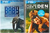 Baby Mammoth , Into The Lion's Den with Bonus Living With Tigers : The Best Of Discovery Channel 2 Pack Gift Set