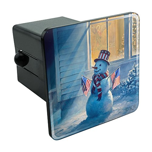 Graphics and More Patriotic Snowman American Flag Christmas Tow Trailer Hitch Cover Plug Insert (Christmas Patriotic Snowman)