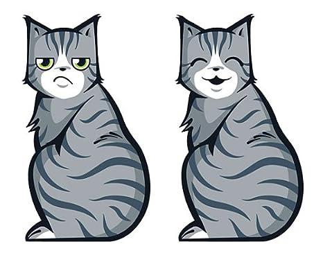 Ducomi® Kitty - Pegatinas Gato para limpiaparabrisas delanteras y traseras trasera coche - Dimensiones: 20 x 30 cm (gris) gris: Amazon.es: Coche y moto