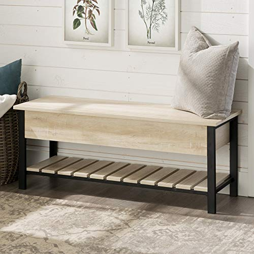WE Furniture AZ48PCSBWO Open-Top Storage Bench, White for sale  Delivered anywhere in USA