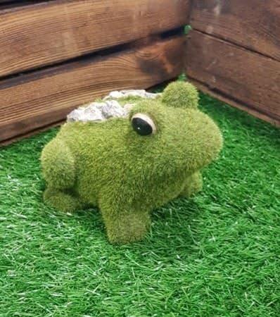 Nuevo medio rana con adorno de jardín decoración de jardín hogar accesorios efecto piedra: Amazon.es: Jardín