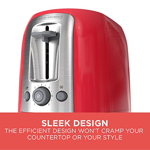 BLACK+DECKER 2-Slice Toaster, Red, TR1278RM by BLACK+DECKER (Image #3)