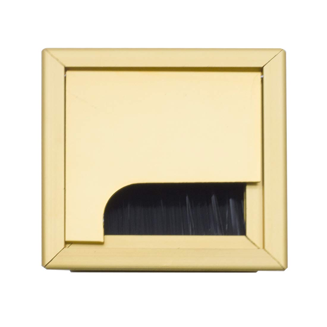 Autoly Desk Grommet Gold Square Desk Cord Cable Hole Cover Grommet for Computer Table, 80mm Length