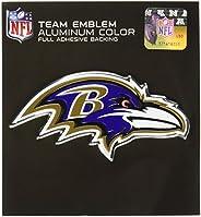 """NFL Baltimore Ravens Die Cut Color Automobile Emblem, Team Color, 4"""""""