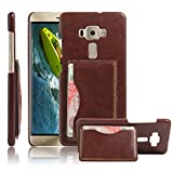 Excelsior Premium Leather Card Holder Back Cover Case for Asus ZenFone 3 Deluxe ZS570KL (5.7 Inch) - Brown