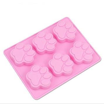 Multifunción Perro Paw imprimir molde de silicona para hornear congelación moldes molde de pastel moldes de dulces molde de jabón: Amazon.es: Hogar