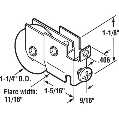 New Prime Line Products D 1686 Sliding Door Roller Assembly With 1 1