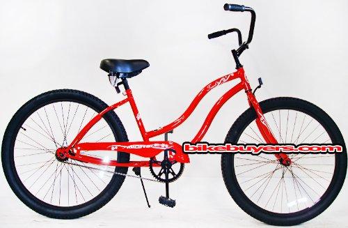 Micargi Touch, red, women's 1-speed Beach Cruiser Bike Schwi