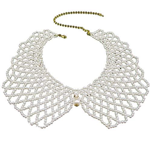 Handmade Fake Pearls Beads Detachable Collar Necklace