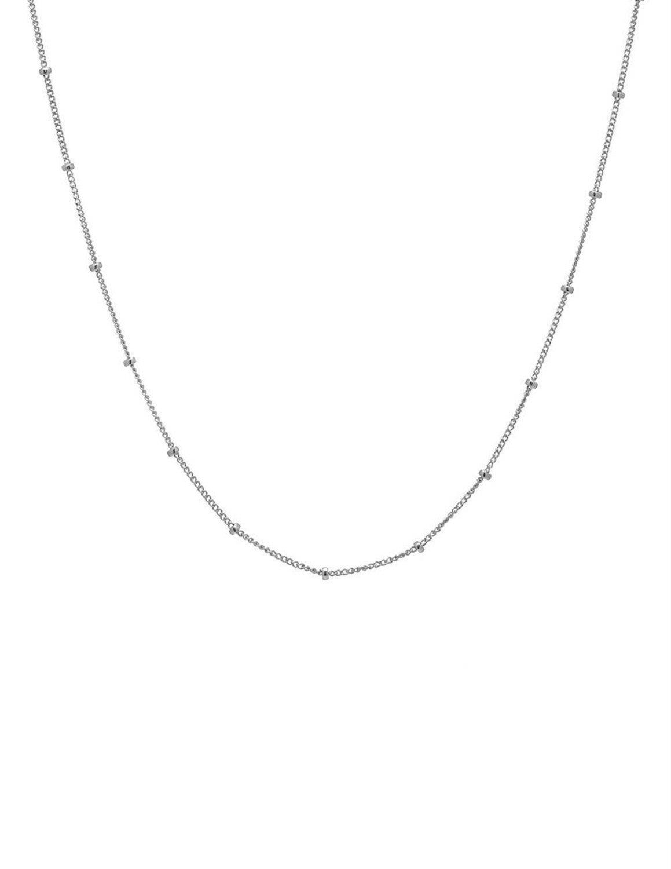 Fremttly Women Handmade 14k Gold Fill Mini Beads Layered Choker Necklace-CK3-Silver 1Bead