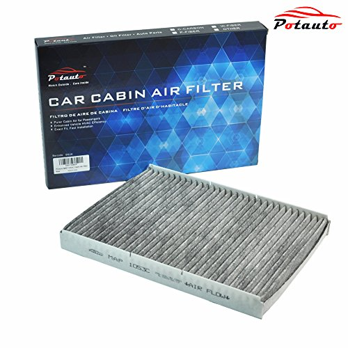 POTAUTO MAP 1053C Heavy Activated Carbon Car Cabin Air Filter Replacement compatible with AUDI, TT, VOLKSWAGEN, Beetle, Cabrio, Golf, Jetta, Passat