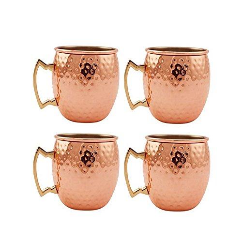 Price comparison product image TSenTr 4 Pcs Rust Resistance Pure Solid Copper Mug Cocktail Copper Cup Shot Glass