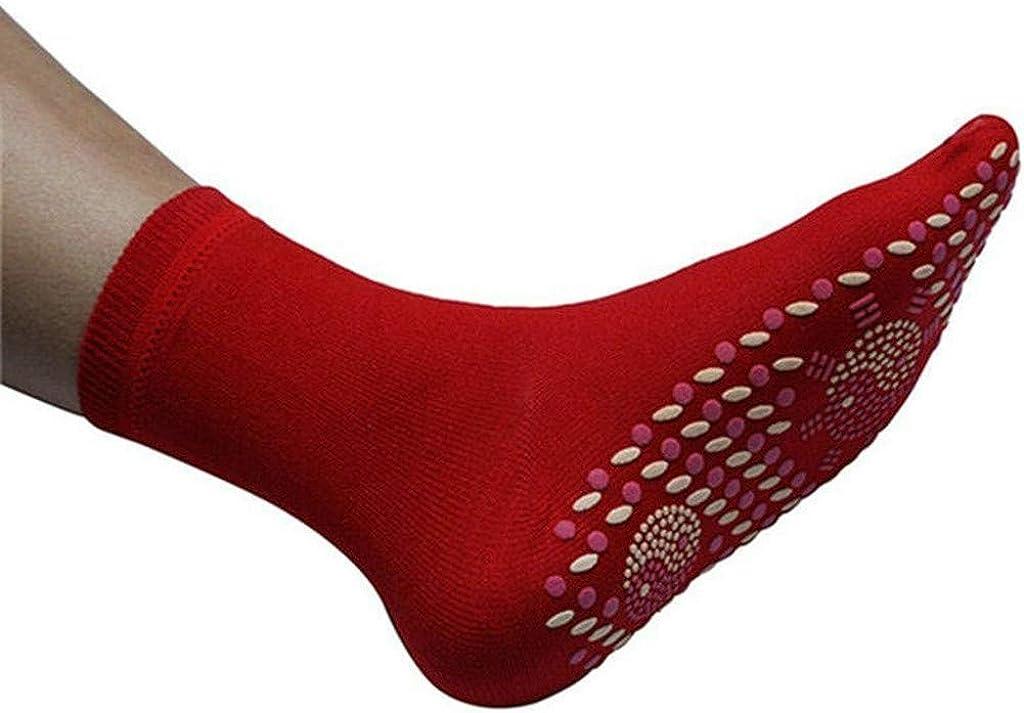 Winkey Chaussettes de massage,Th/érapie Magn/étique Chaussettes auto-chauffantes
