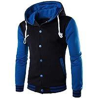 1c07bd3c HGWXX7 Men's Hooded Sweatshirt Warm Slim Button Coat Jacket Tops Cardigan  Outwear Hoodie