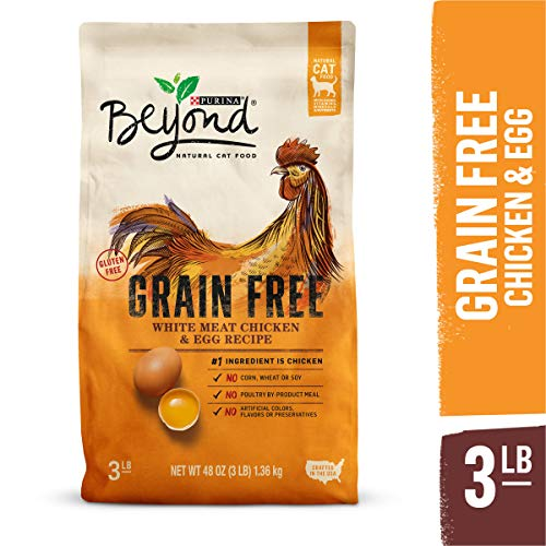 Purina Beyond Grain Free, Natural Dry Cat Food, Grain Free White Meat Chicken & Egg Recipe - 3 lb. Bag (Chicken Soup For The Soul Cat Food Reviews)
