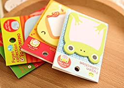 JunShop Super Sticky Pad Lovely animals Cartoon Sticky Note Self-stick Note Post-it Note (Pack of 8, 20 Sheets per)