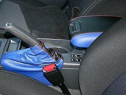 Black Alcantara-Blue Thread RedlineGoods ebrake Boot Compatible with Subaru Impreza 2008-11