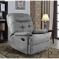Ocean Bridge – Furniture Collection – Big Jack Microfiber Recliner Chair, Grey