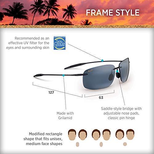 97b89ccd6a9 MAUI JIM BREAKWALL 422 422-02 Polarized Aviator Sunglasses, - Import It All