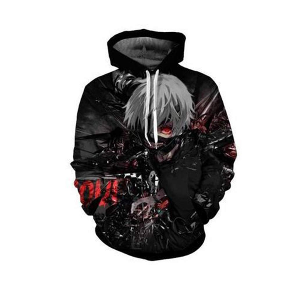 Imzoeyff 3D Novelty Printed Hoodie Hooded Sweater Long-Sleeved Winter Pullover Anime Sweater Fashion Unisex